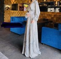Нарядное мусульманское платье с поясом Асия