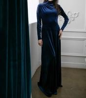 Мусульманское платье Синий бархат
