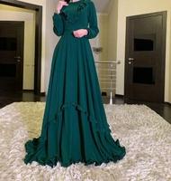 Нарядное мусульманское платье Изумруд