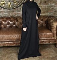 Базовое мусульманское платье из трикотажа Мила