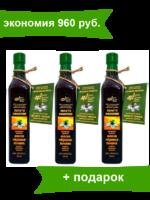 """Масло черного тмина """"Золото Эфиопии"""" (эфиопсикй сорт, стекло) 3 шт. по 500 мл, экономия 960 руб."""