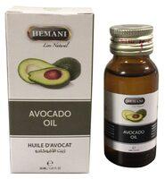 Натуральное масло авокадо Hemani, холодный отжим, 30 мл, стекло